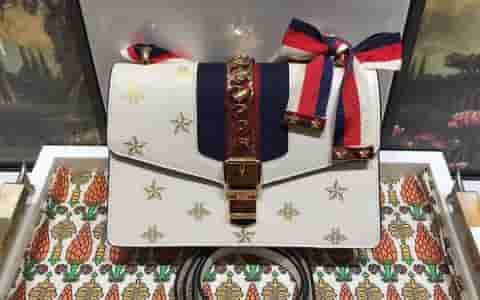 Gucci Sylvie系列蜜蜂星星小号肩背包 524405