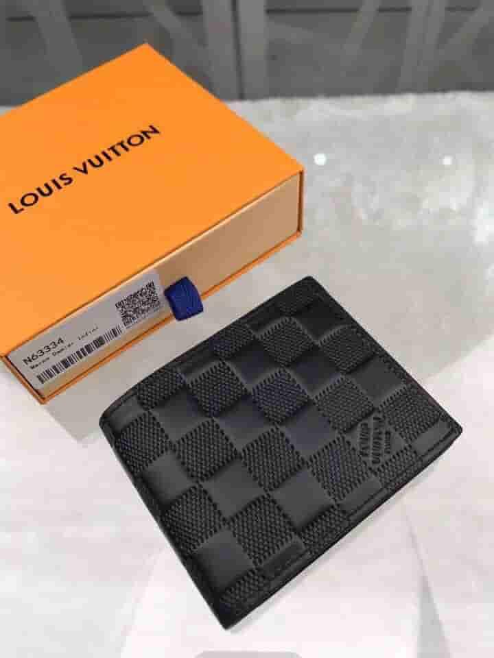 LV N63334 Damier Inifinite皮革 Marco钱夹