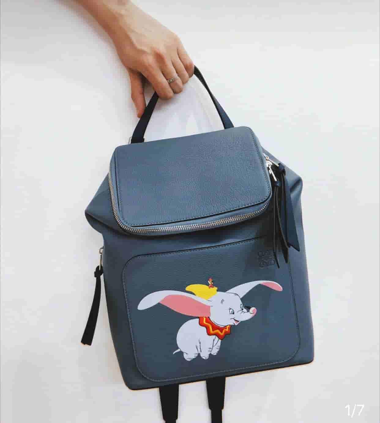 Loewe 刘雯 宋茜 欧阳娜娜同款小飞象系列Goya双肩包