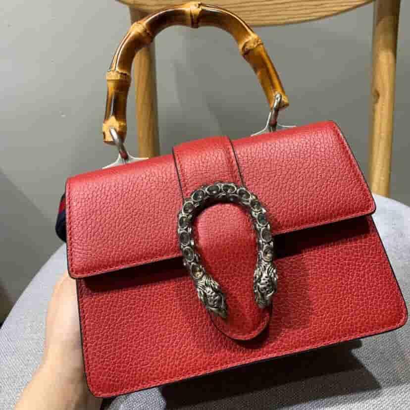 Gucci Mini Dionysus系列水晶虎头扣竹节手提包 523367