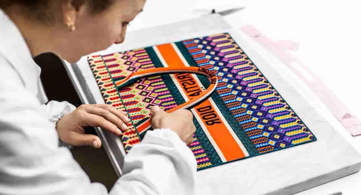 Dior/迪奥 Book Tote 彩色提花帆布购物袋