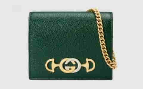 Gucci 草莓印花Zumi系列卡包 570660 08PAX 9036