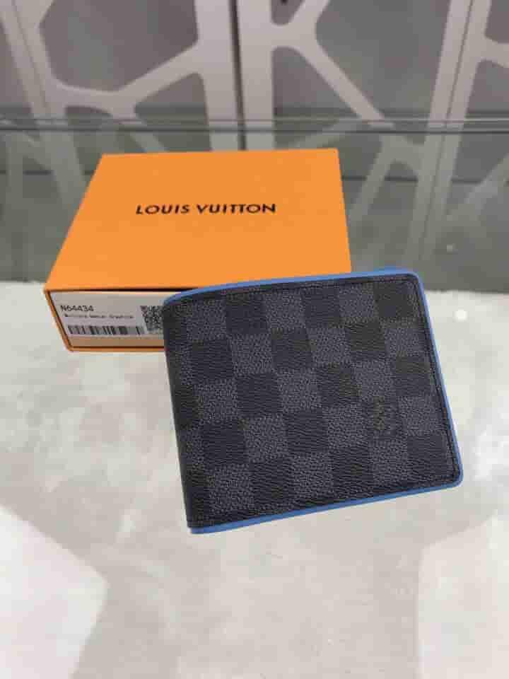 LV N64434 棋盘格MULTIPLE短款钱夹