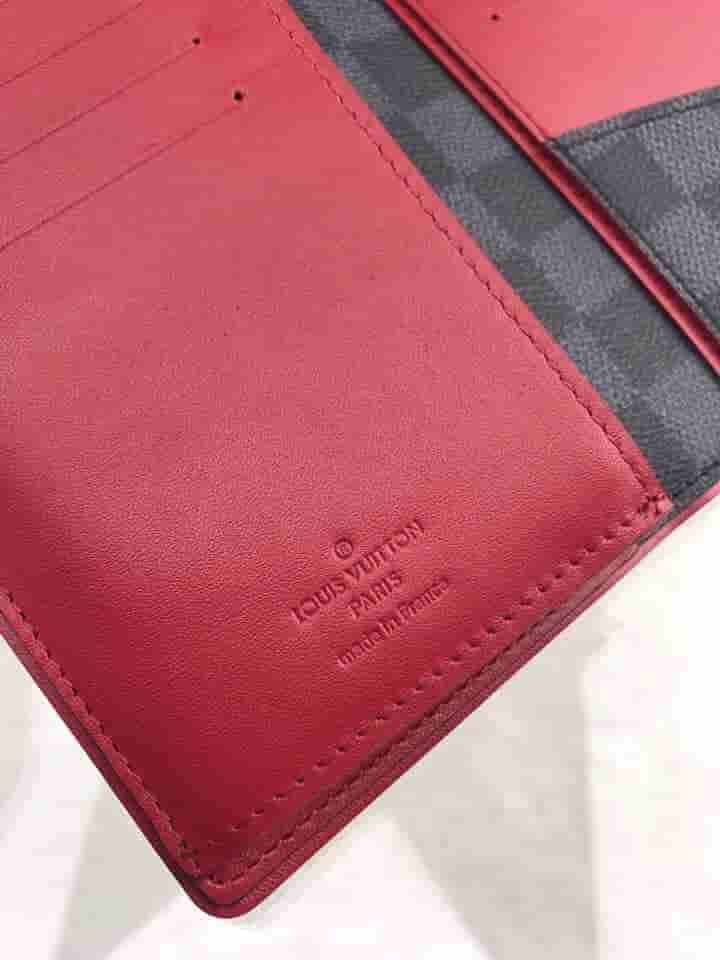 LV N63254 黑棋盘格长款BRAZZA钱夹
