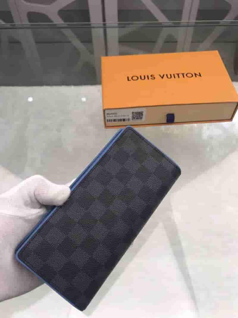 LV N64430 黑棋盘格长款BRAZZA钱夹