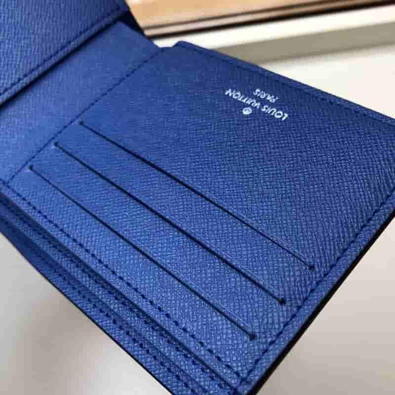 LV M30299 Multiple蓝花短款对折钱夹
