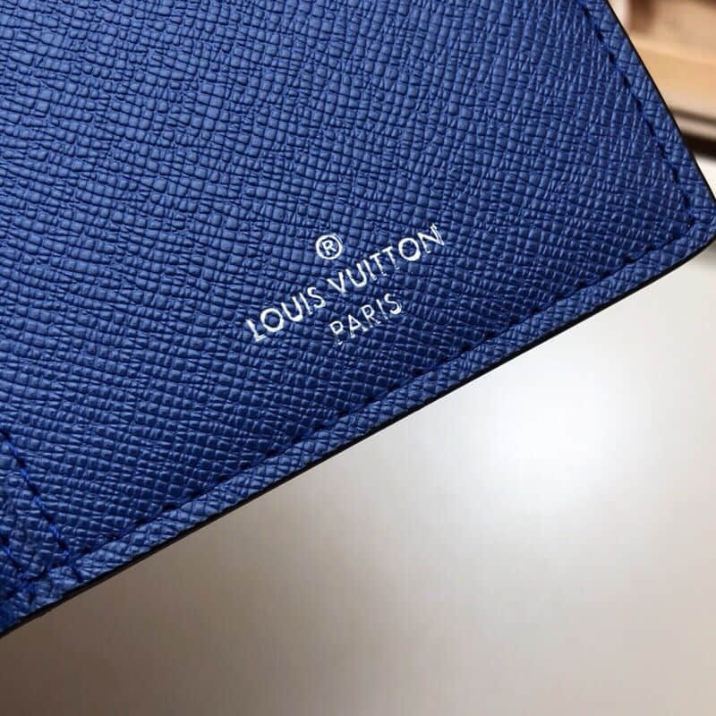 LV M30297 Brazza蓝花长款对折钱夹