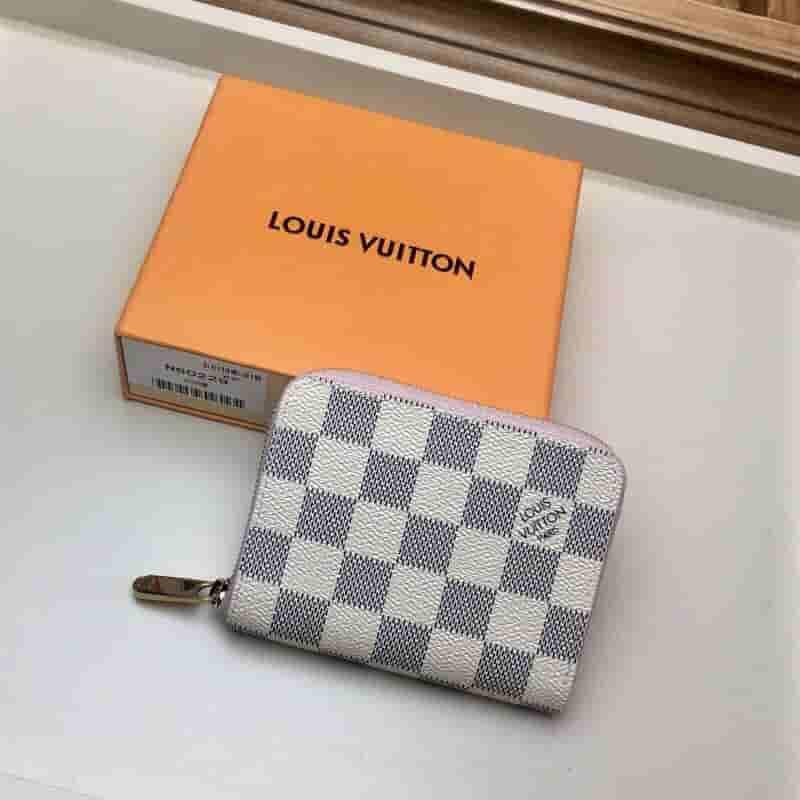 LV N60229 白格Zippy拉链零钱包