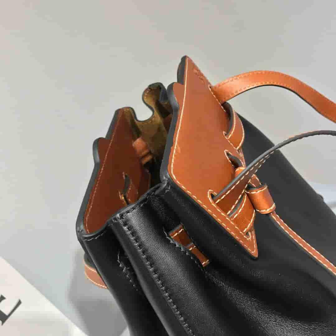 Loewe罗意威 Lazo Bucket 拼色牛皮手提包 单肩包 水桶包