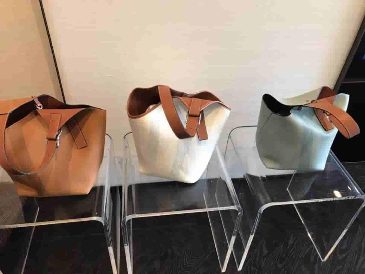 Loewe/罗意威 Balloon Bag水绿色菜篮子水桶包