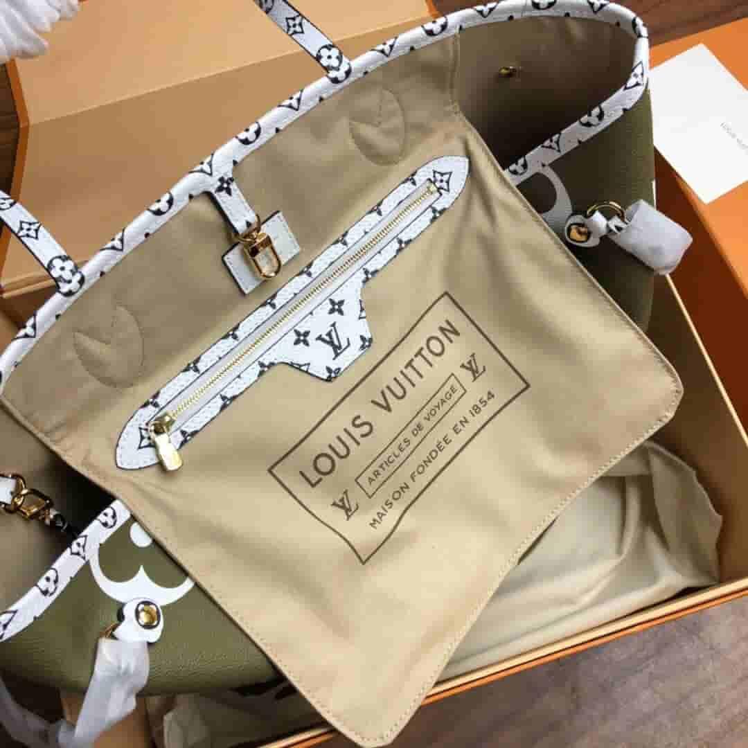 LV 2019夏季新款Neverfull中号购物袋 M44567 M44568