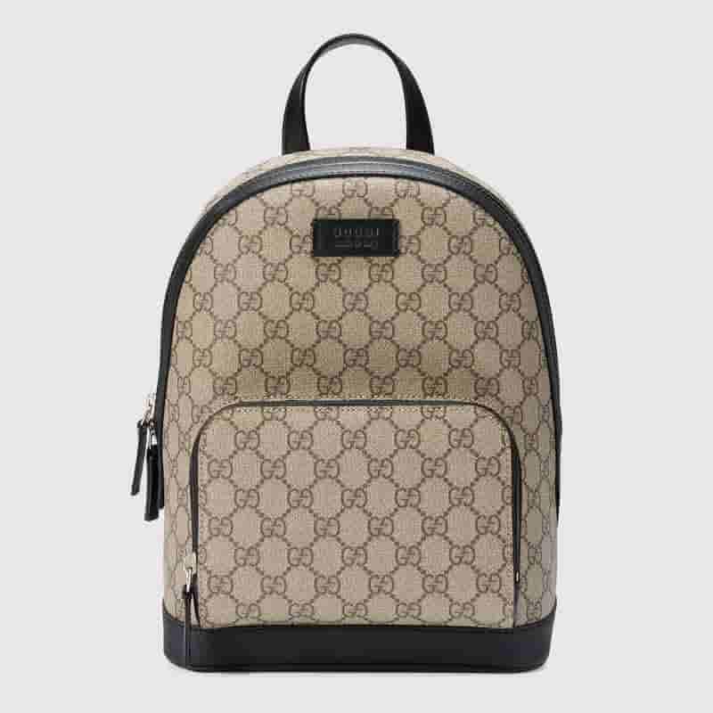 Gucci 小号 GG Supreme高级人造帆布背包 429020