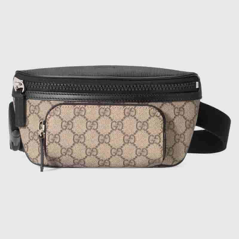 Gucci/古奇 GG Supreme高级人造帆布腰包 450946