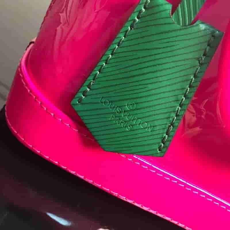 LV M90447 ALMA BB 手袋 压纹拼色漆皮贝壳包