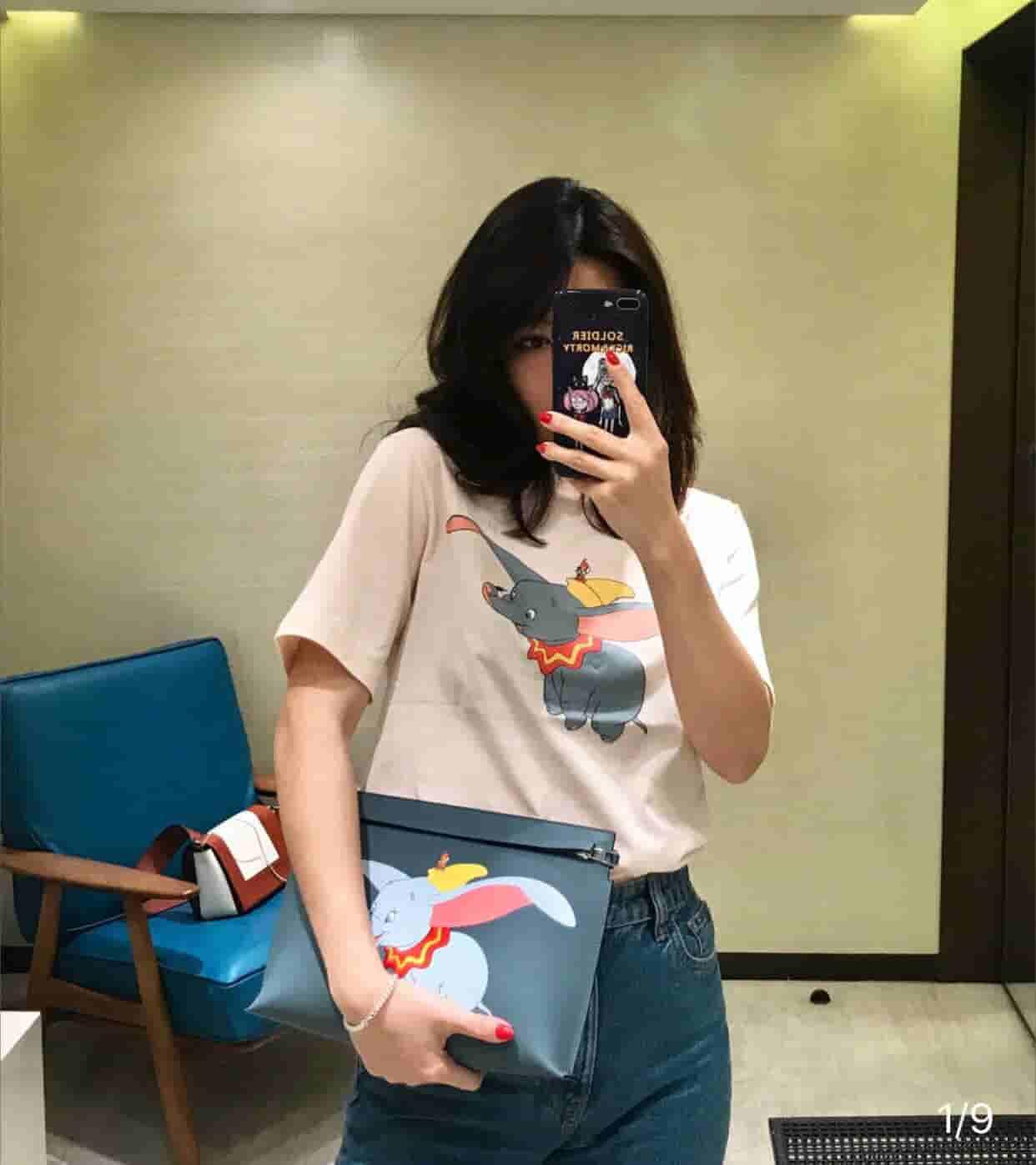 Loewe 刘雯 宋茜 欧阳娜娜同款小飞象手包