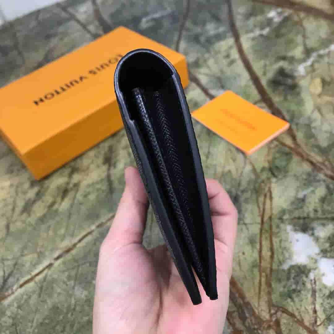 LV N62665 Brazza黑格长款对折钱夹钱包