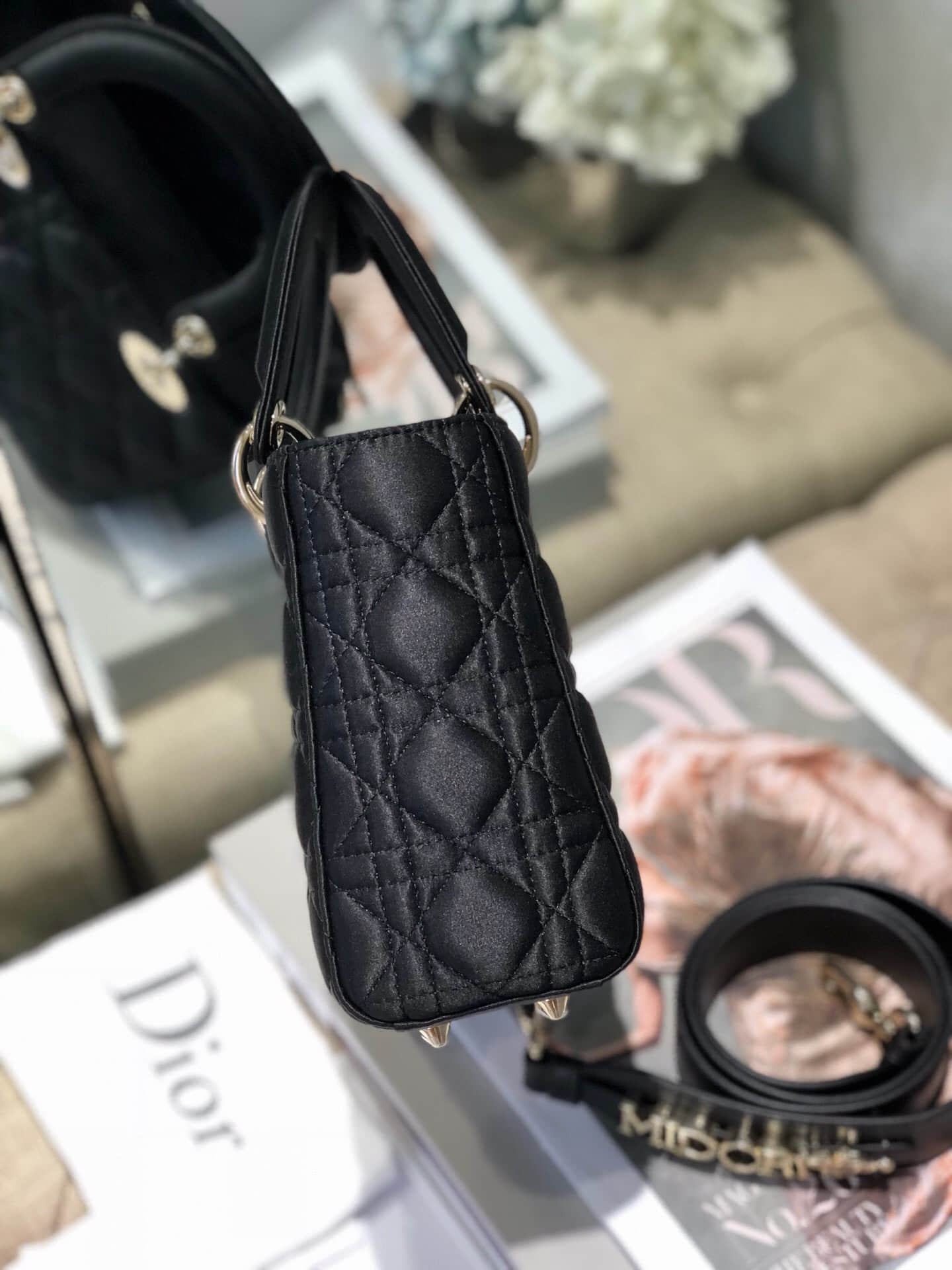 Dior My ABC Lady satin crystal 3D水晶扣缎面4格戴妃包