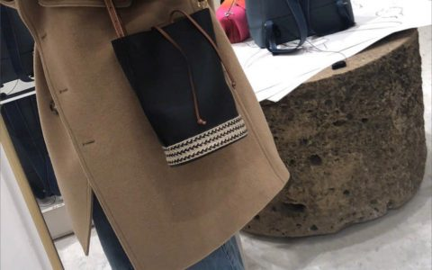 Loewe/罗意威 2019新款Gate Bucket Bag草编水桶包