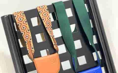 Loewe/罗意威 2019新款棉麻肩带Mini卡包斜挎零钱包