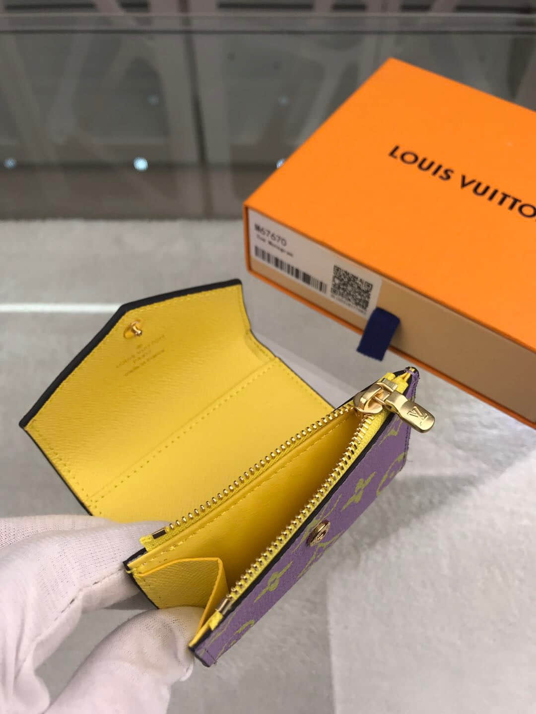 LV 新款Zoé三折拼色短款钱夹 M67640 M67670 M67641
