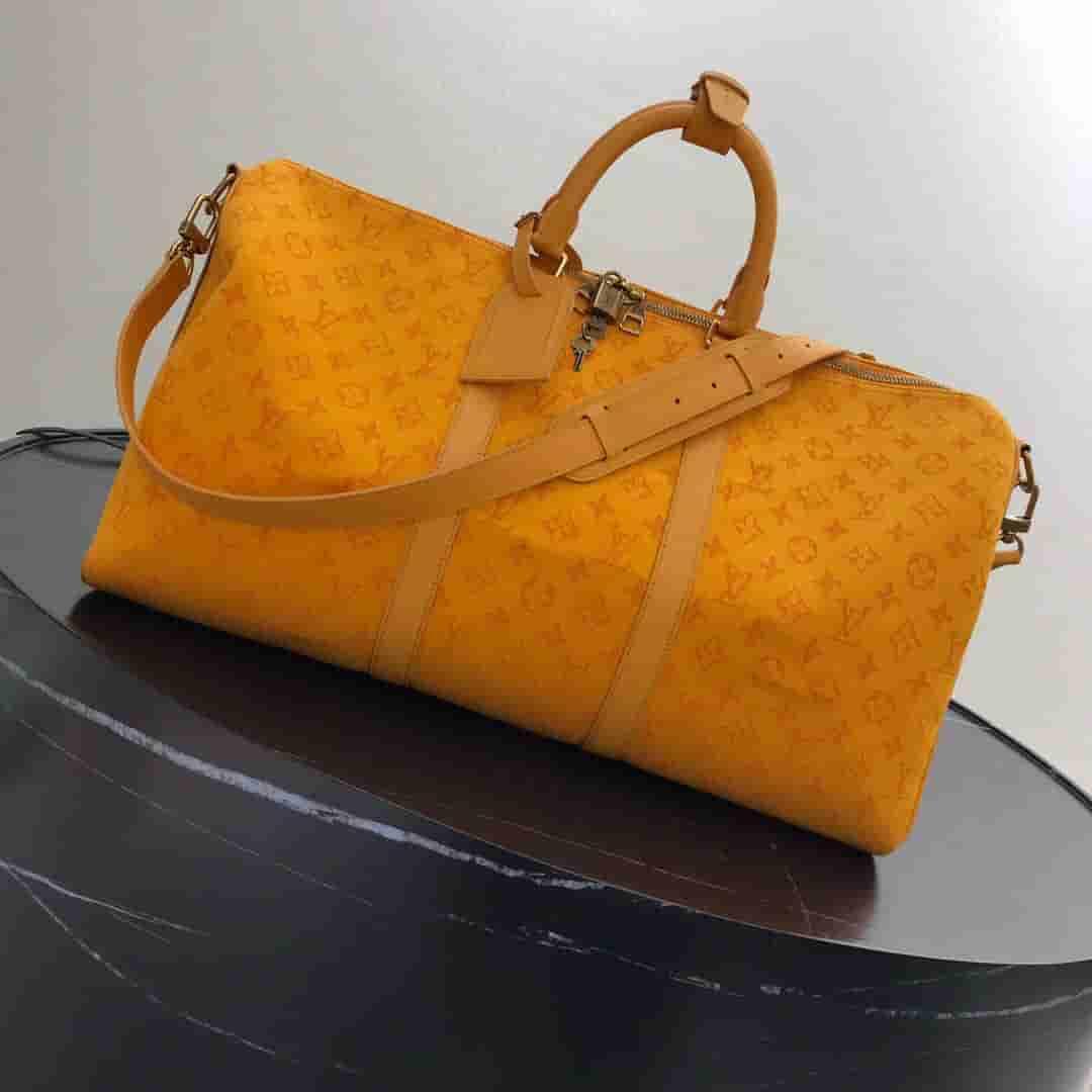 LV Keepall Bandoulière 50 手袋 橙色旅行袋 M44644
