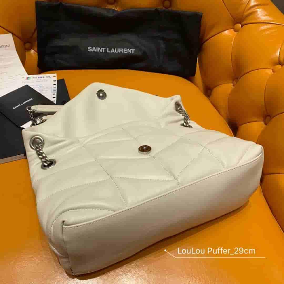 YSL/圣罗兰 LOULOU PUFFER 小号绗缝小羊皮包 577476