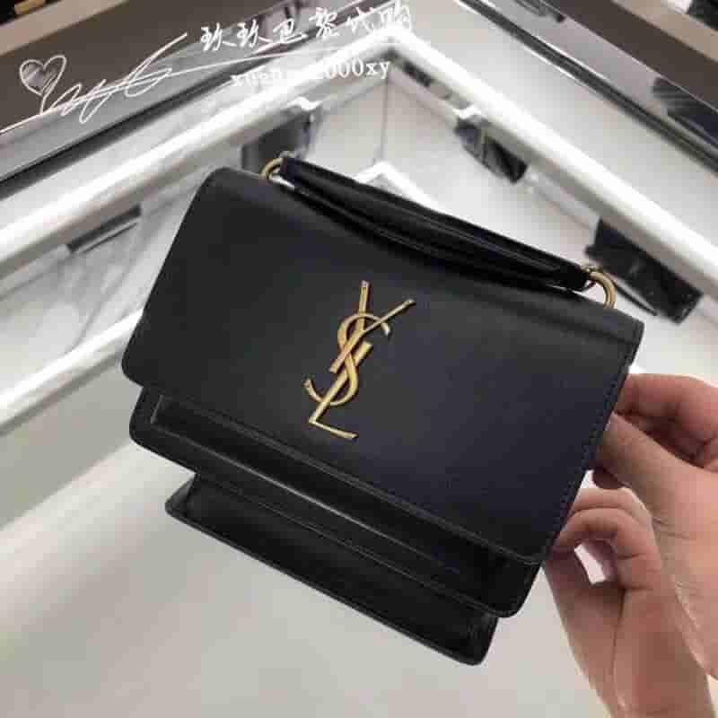 YSL/圣罗兰 2019新款SUNSET WOC19cm链条斜挎手提包 533026