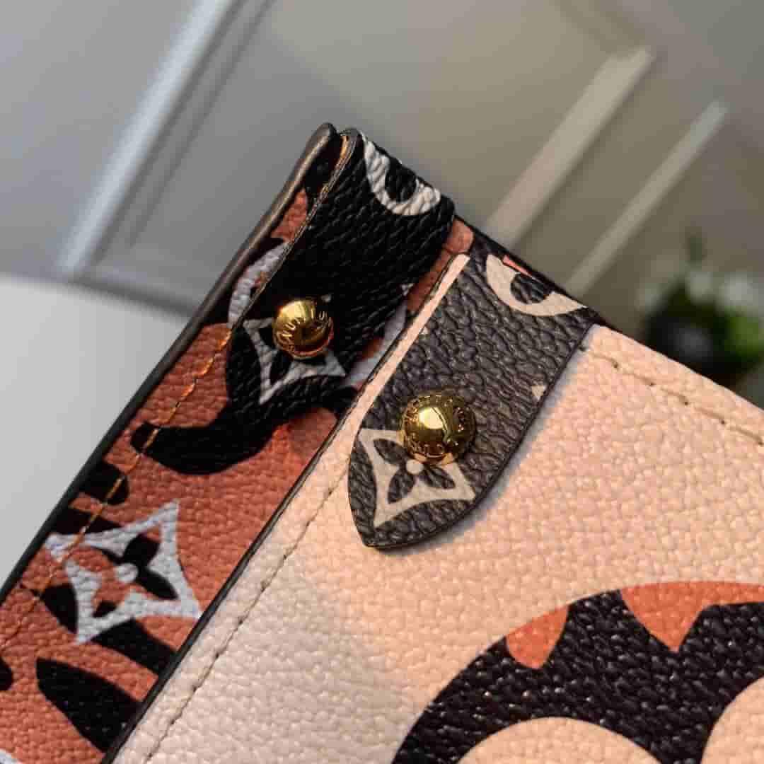 LV 19新款丛林系列ONTHEGO购物袋单肩手提包 M44675