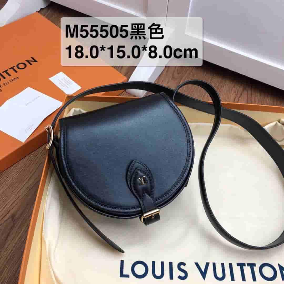 LV 2019新款Tambourin 手袋 小牛皮马鞍包 M55505 M55506