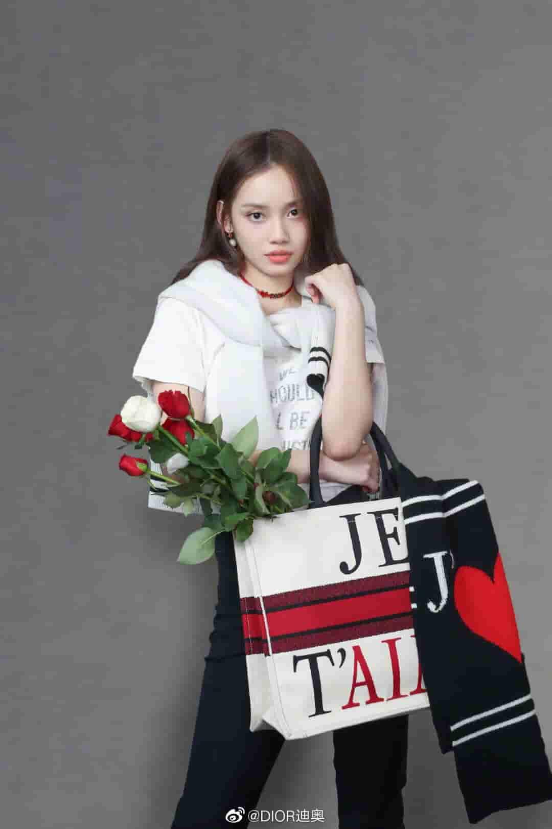 Dior/迪奥 七夕限定BOOK TOTE白色JE T'AIME图案手提购物袋