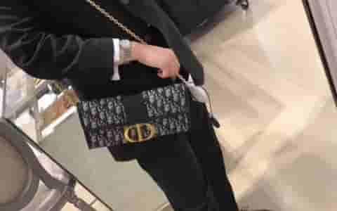 Dior/迪奥 30 MONTAIGNE提花帆布手拿包 M9206UTZQ_M928