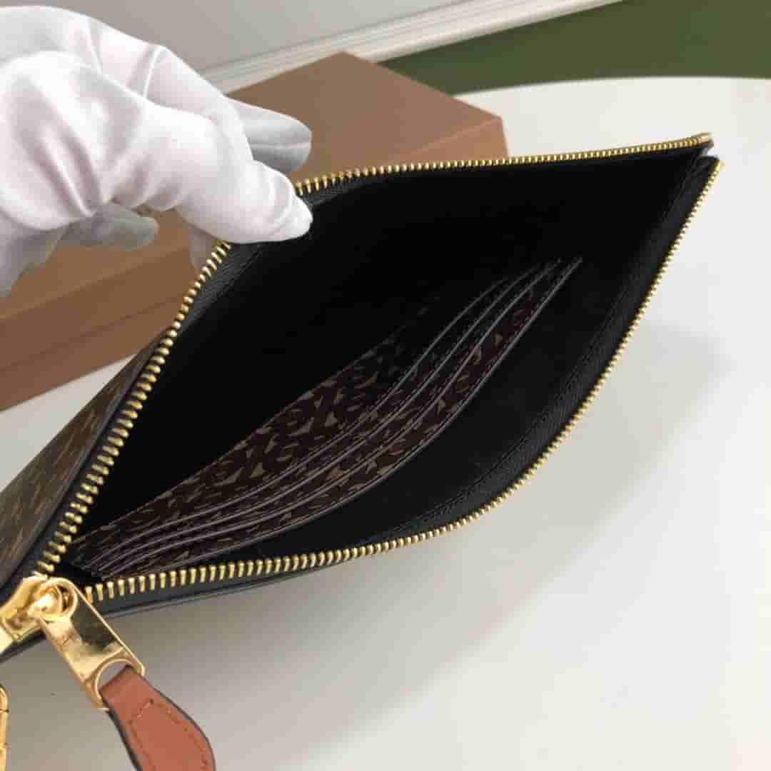 Burberry/巴宝莉 专属标识条纹环保帆布拉链收纳袋 80188941