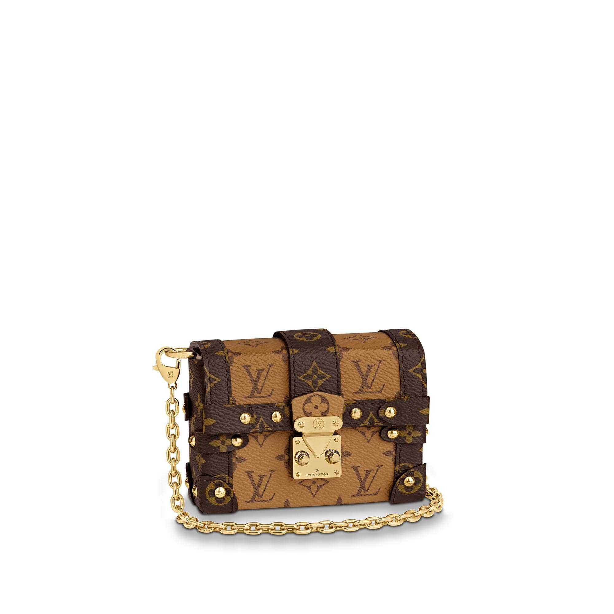 LV M68575 ESSENTIAL TRUNK 黄花链条包