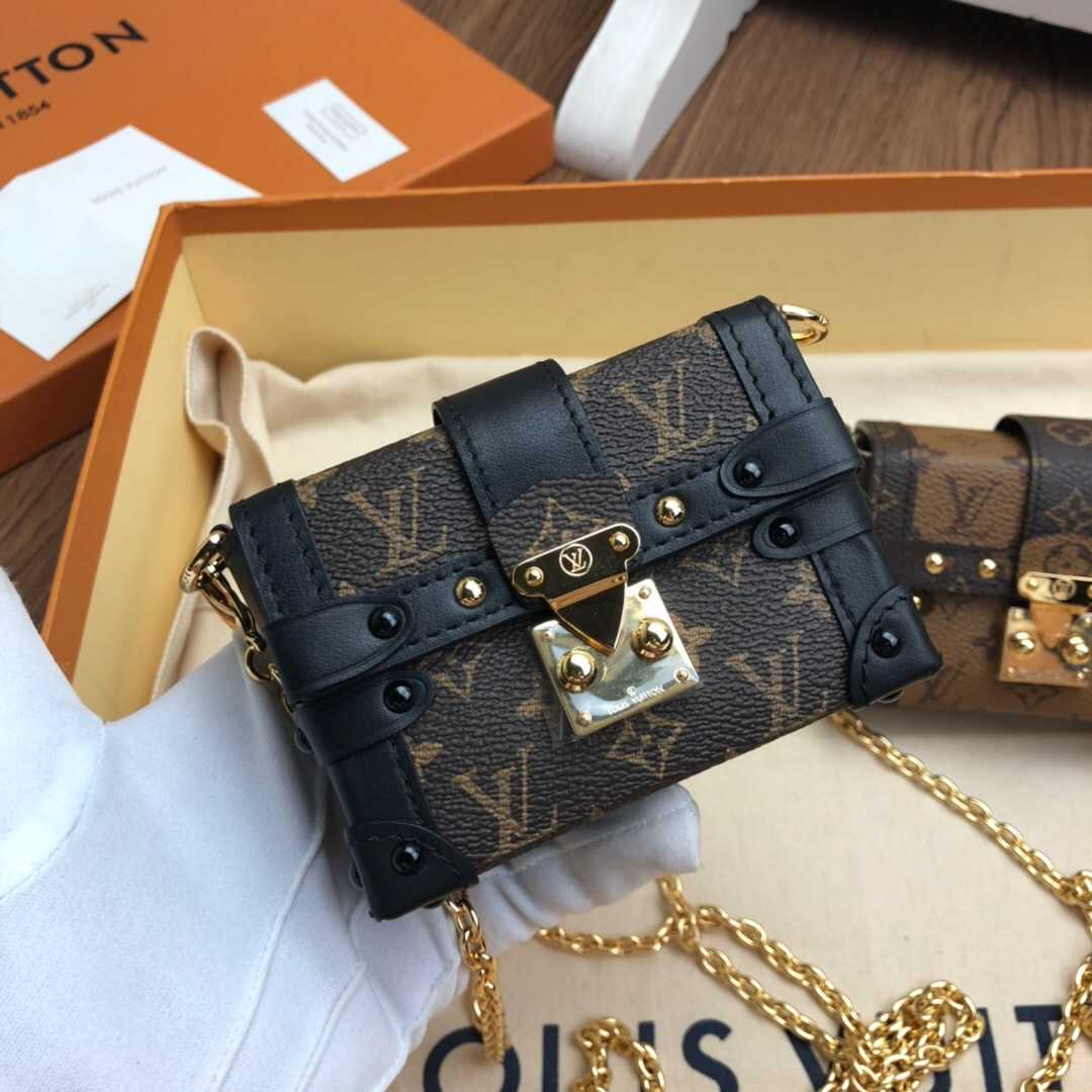 LV M68566 ESSENTIAL TRUNK 老花色链条包
