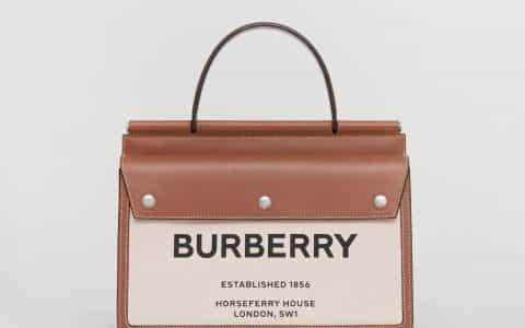 Burberry/巴宝莉 Title小号口袋装饰 Horseferry 印花泰尔特手袋