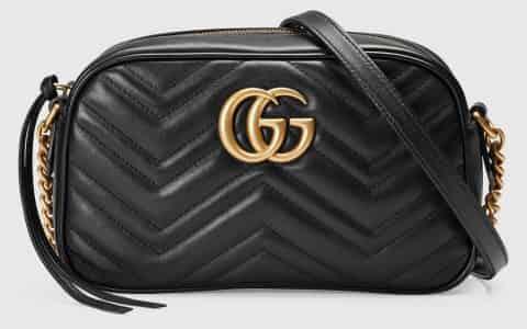 Gucci/古驰 GG Marmont系列小号绗缝肩背包 447632