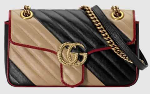 Gucci/古驰 GG Marmont 系列小号肩背包 443497 0OLOX 9689