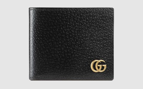 Gucci/古驰 GG Marmont系列皮革双折钱包 428726