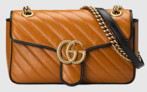 Gucci/古驰 GG Marmont 系列小号肩背包 443497 0OLFX 2266