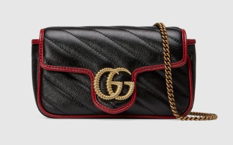 Gucci/古驰 GG Marmont 系列超迷你手袋 574969 0OLFX 8277