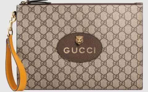 Gucci/古驰 Neo Vintage高级人造帆布手拿包 473956 K9GOT 8861