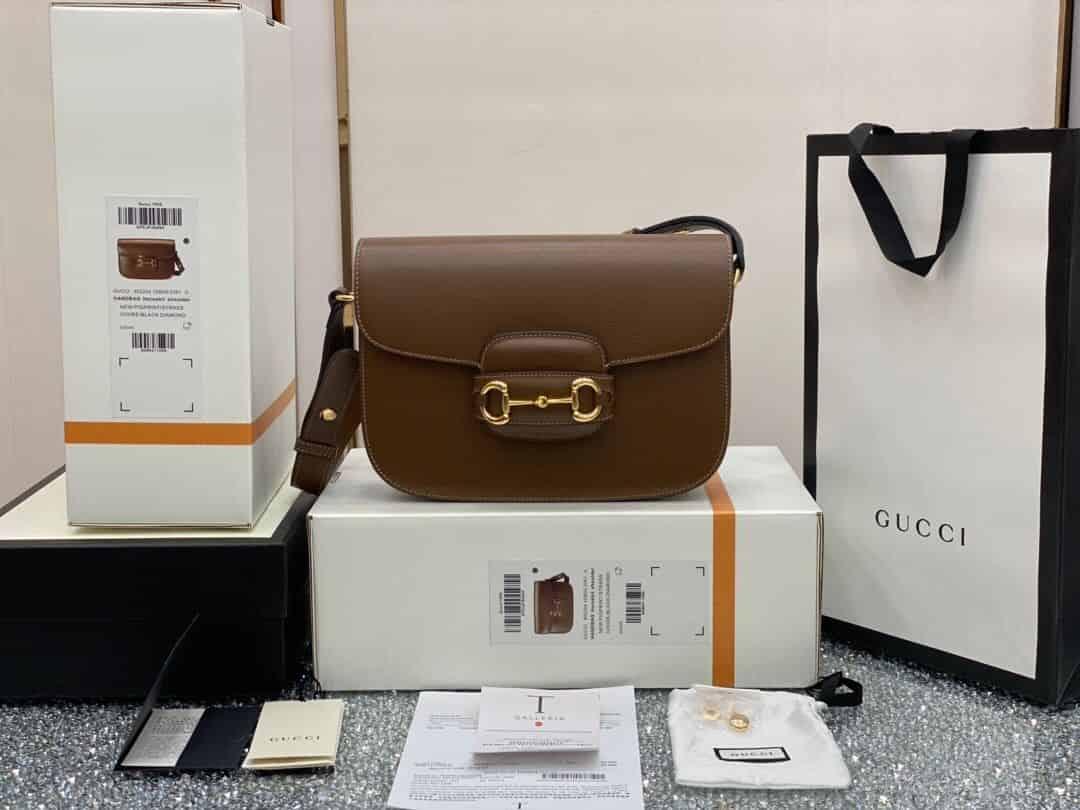 Gucci 1955马衔扣肩背包 602204 1DB0G 2361