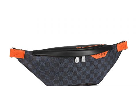LV N40161 Damier Cobalt Race涂层帆布Discovery腰包