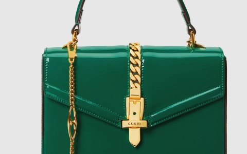 Gucci/古驰 Sylvie 1969系列漆皮迷你手提包 589479 1J70G 3120