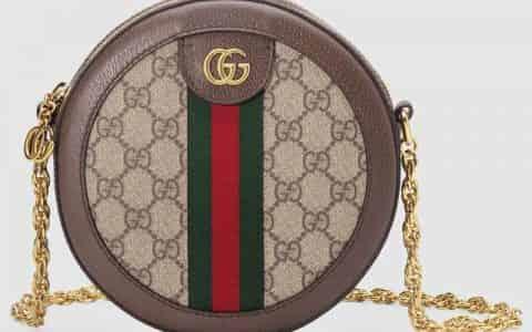 Gucci Ophidia系列圆形迷你肩背包 550618 96I3B 8745