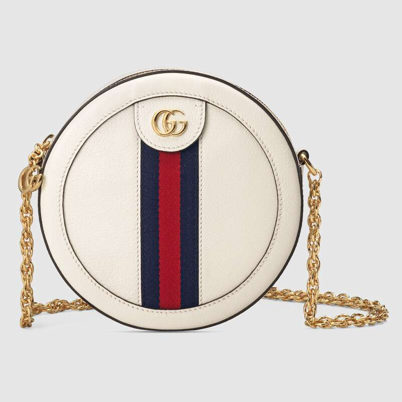 Gucci Ophidia系列圆形迷你肩背包 550618 CWG1G 8454