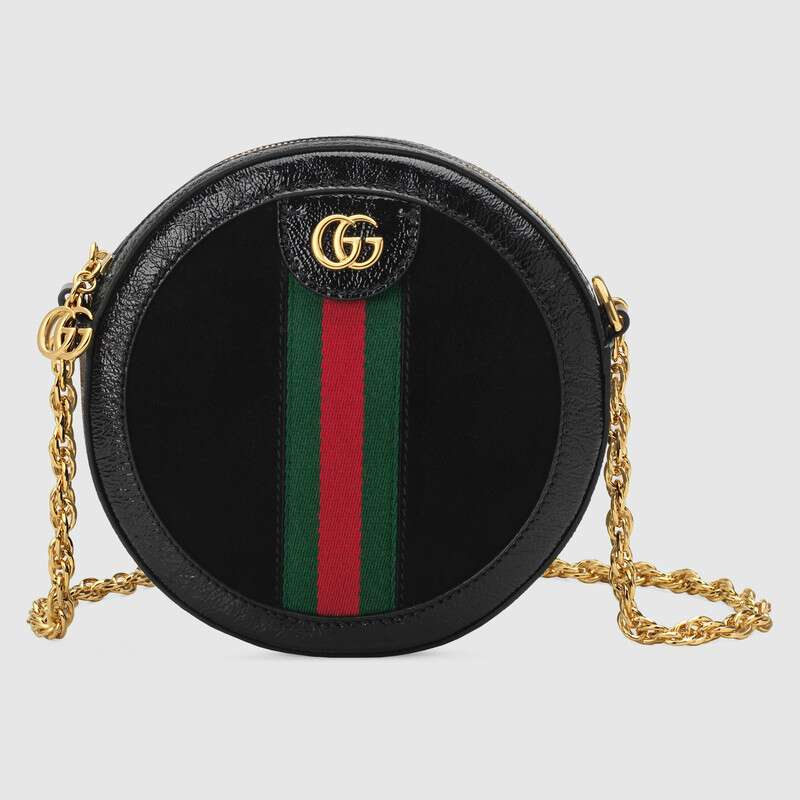 Gucci Ophidia系列圆形迷你肩背包 550618 D6ZYB 1060