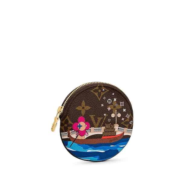 LV 2020圣诞太阳花威尼斯划船ROUND零钱包 M68485