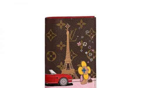 LV 2020圣诞太阳花巴黎埃菲尔铁塔护照夹 M68493
