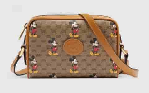 Gucci Disney迪士尼米老鼠印花单肩斜挎包相机包 602536
